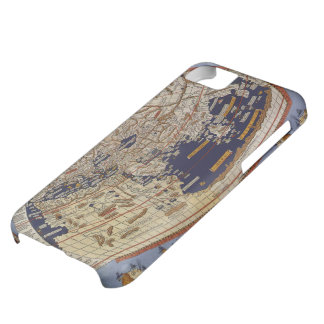 Coque iPhone 5C Carte Ptolemaic antique du monde, Johannes