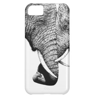 Coque iPhone 5C Cas de l'iPhone 5 d'éléphants africains