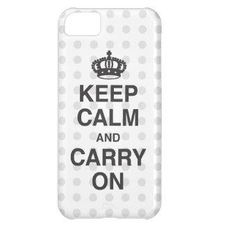 COQUE iPhone 5C GARDEZ LE CALME ET CONTINUEZ ET DES BAISERS