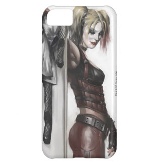 Coque iPhone 5C Illustration de la ville | Harley Quinn de Batman