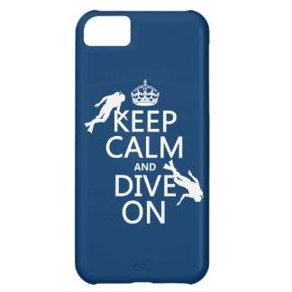 Coque iPhone 5C Maintenez calme et le piqué (de scaphandre) sur