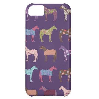 Coque iPhone 5C Motif coloré de cheval