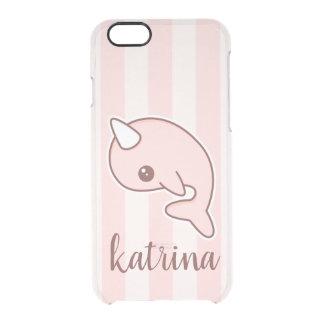 Coque iPhone 6/6S Bande dessinée rose mignonne Narwhal avec des