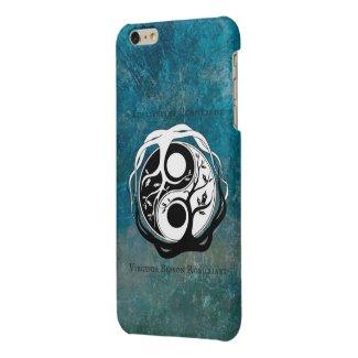 coque Iphone 6/6s bleu logo auteur