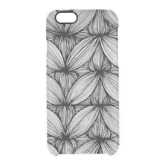 Coque iPhone 6/6S Caisse sinueuse noire et blanche de téléphone de