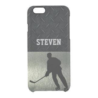 Coque iPhone 6/6S Cas rocailleux de téléphone de sports d'hockey