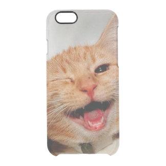 Coque iPhone 6/6S Chat clignant de l'oeil - chat orange - les chats