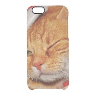 Coque iPhone 6/6S Chat orange - chat du père noël - Joyeux Noël