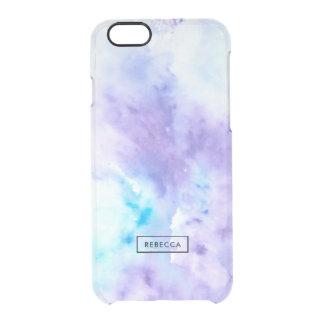 Coque iPhone 6/6S Couleurs liquides modernes bleues et tons pourpres