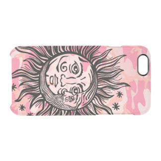 Coque iPhone 6/6S Cresent Sun et conception Girly d'astronomie de