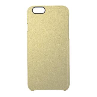 Coque iPhone 6/6S Effet métallique d'aluminium d'or