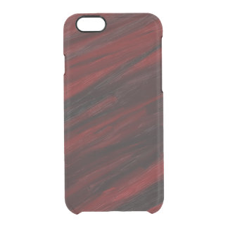 Coque iPhone 6/6S Filets diagonaux rouges et noirs