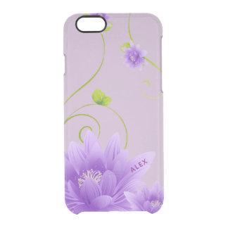 Coque iPhone 6/6S Fleur pourpre mignonne