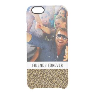 Coque iPhone 6/6S Fourrure faite sur commande de léopard de photo et