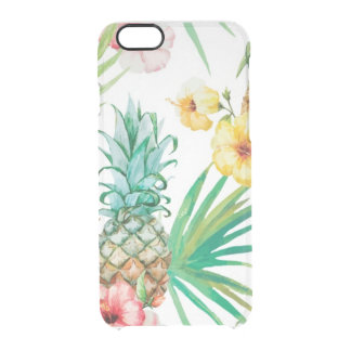 Coque iPhone 6/6S iPhone tropical 6/6s Clearly™ Def d'Hawaï d'ananas