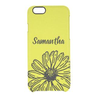 Coque iPhone 6/6S La marguerite lumineuse simple jaune d'amusement