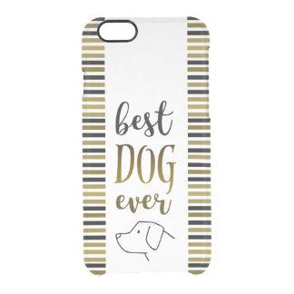 Coque iPhone 6/6S Le meilleur noir toujours d'or de chien barre