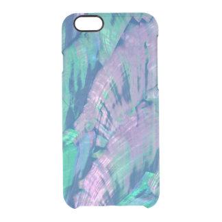 Coque iPhone 6/6S L'ormeau élégant Shell de turquoise de rose de
