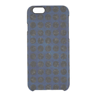 COQUE iPhone 6/6S MARBRE CIRCLES1 NOIR ET DENIM BLEU (R)