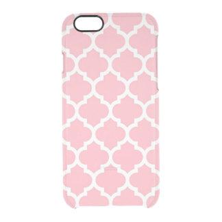 Coque iPhone 6/6S Motif blanc rose #5 de Quatrefoil de Marocain