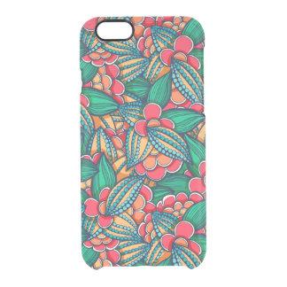 Coque iPhone 6/6S Motif illustré abstrait coloré de graines de cacao