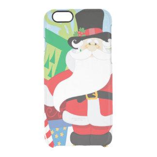 Coque iPhone 6/6S père Noël dans le tophat par la pile de presentts