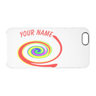 Coque iPhone 6/6S Remous multicolore. Ajoutez votre texte