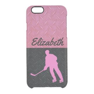 Coque iPhone 6/6S Rose et cas de nom de l'hockey des femmes de