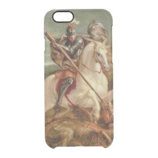 Coque iPhone 6/6S St George massacrant le dragon, (huile sur le