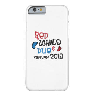 Coque iPhone 6 Barely There 4 juillet Materni White& en février 2018 dû rouge