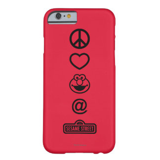Coque iPhone 6 Barely There Amour Elmo de paix