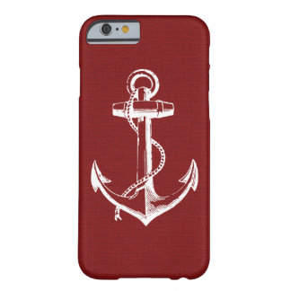 Coque iPhone 6 Barely There Ancre vintage rouge rustique