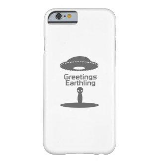 Coque iPhone 6 Barely There Anniversaire drôle de paix étrangère de terrien de
