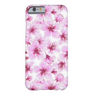 Coque iPhone 6 Barely There Aquarelle de fleurs de cerisier