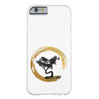 Coque iPhone 6 Barely There Arbre de bonsaïs. Cercle d'Enso de zen. Art