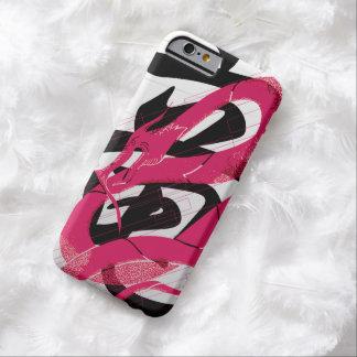 Coque iPhone 6 Barely There Arrière - plan japonais de blanc de dragon de