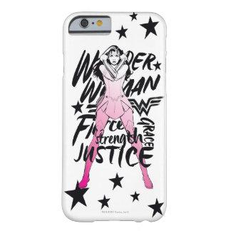 Coque iPhone 6 Barely There Art de typographie de brosse de femme de merveille