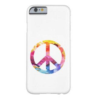 Coque iPhone 6 Barely There Art hippie d'aquarelle de fille de signe de paix