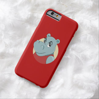 Coque iPhone 6 Barely There Bande dessinée mignonne d'hippopotame
