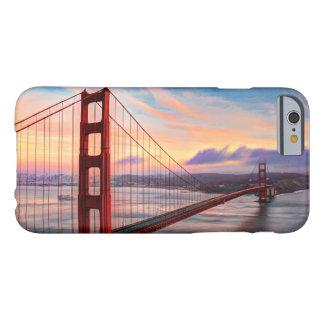 Coque iPhone 6 Barely There Beau coucher du soleil d'hiver chez golden gate