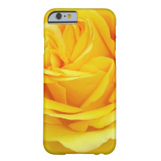 Coque iPhone 6 Barely There Beau plan rapproché de rose jaune