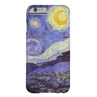 Coque iPhone 6 Barely There Beaux-arts de cru de nuit étoilée de Vincent van