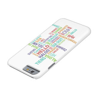 Coque iPhone 6 Barely There Bonjour