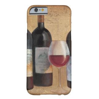 Coque iPhone 6 Barely There Bouteilles de vin avec le verre