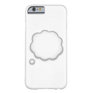 Coque iPhone 6 Barely There Bulle de la parole de pensée - Emoji