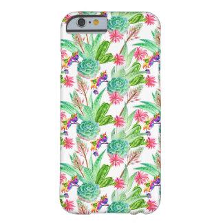 Coque iPhone 6 Barely There Cactus lumineux d'aquarelle et motif succulent