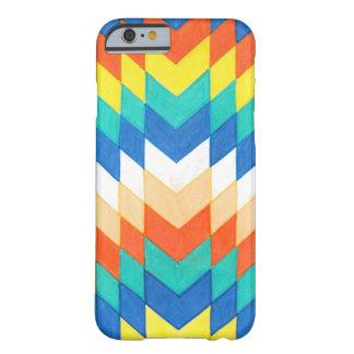 Coque iPhone 6 Barely There Caisse colorée géométrique de téléphone