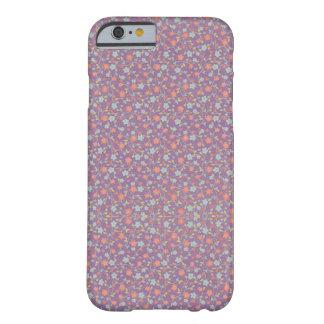 Coque iPhone 6 Barely There Caisse douce mignonne florale pourpre de téléphone