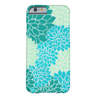 Coque iPhone 6 Barely There Caisse florale turquoise de Bohème de l'iPhone 6