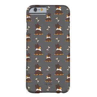 Coque iPhone 6 Barely There Caisse tricolore de téléphone de bout de corgi